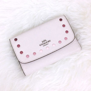 NWT COACH Envelope Wallet with Rainbow Rivets